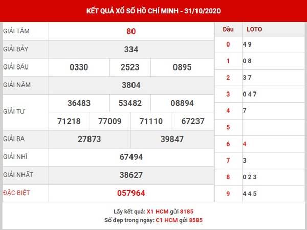 Soi cầu kết quả xổ số Hồ Chí Minh thứ 2 ngày 2-11-2020