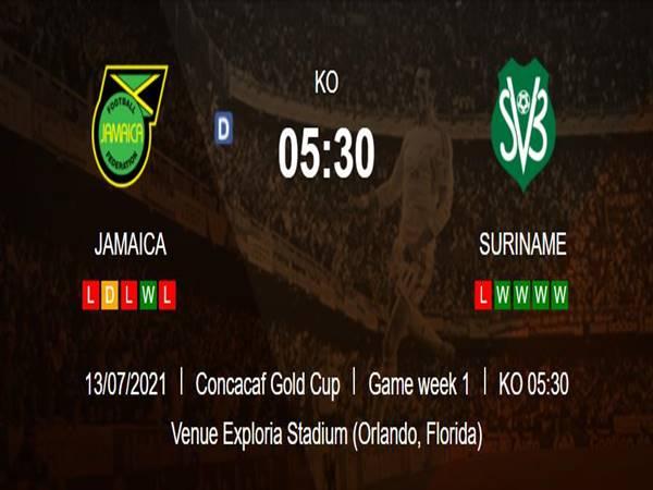 Soi kèo Châu Á Jamaica vs Suriname (5h30 ngày 13/7)