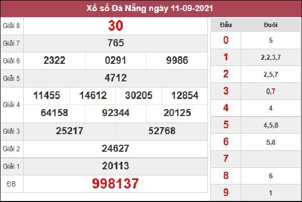 Soi cầu KQXS Đà Nẵng 15/9/2021 chốt song thủ lô số đẹp