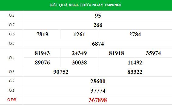 Soi cầu xổ số Gia Lai 24/9/2021 thống kê XSGL chính xác