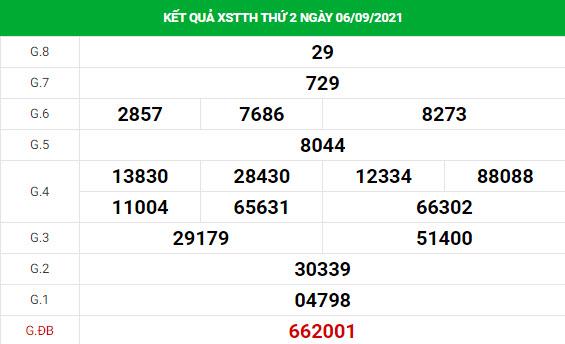 Soi cầu xổ số Thừa Thiên Huế 13/9/2021 thống kê XSTTH chính xác